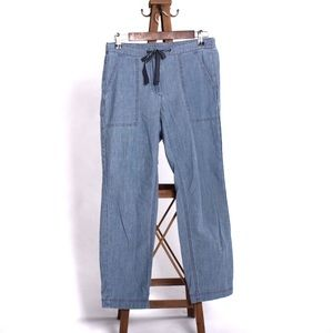 J Crew tie waist jean jogger size 6